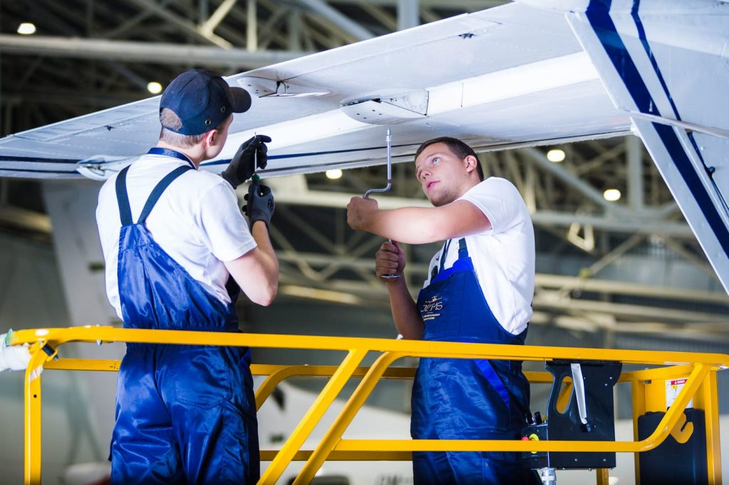 A and B checks for aircrafts jetms